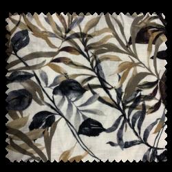 Tissu Imprime Maxima Feuillage Grege