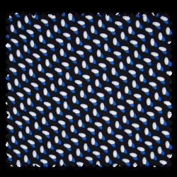 Tissu Imprime Viscose Bleu Royal