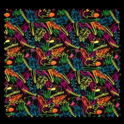 Tissu Jersey Toucan Feuillage Neon