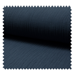 Tissu Double Gaze Uni Jeans