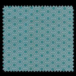Tissu Hex Cretonne Aqua