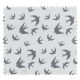 Tissu Andi Cretonne Blanc Gris