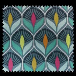 Tissu Imperial Cretonne Celadon multicolore