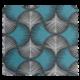 Tissu Bona Taupe/turquoise