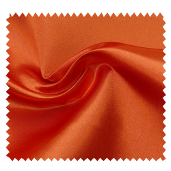 Tissu Satin Uni Orange