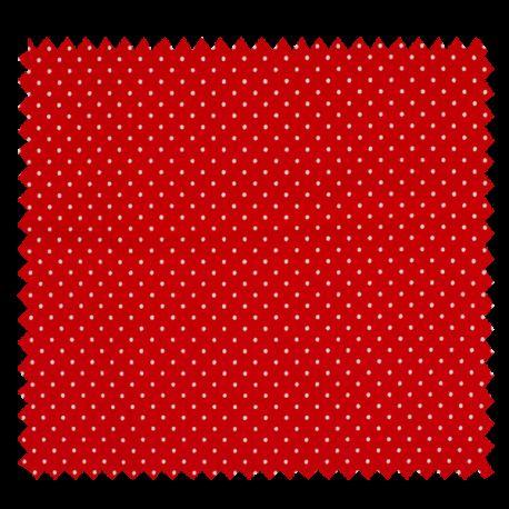 Tissu Jersey Coton Pois Rouge