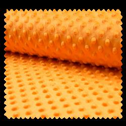 Tissu Minky Bubble Uni Clementine