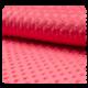 Tissu Minky Bubble Uni Corail