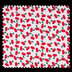 Tissu Jersey Imprime Cerise Rouge