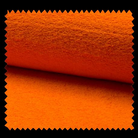 Tissu Eponge Uni Orange