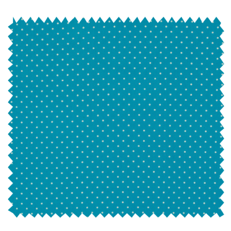 Tissu Imprimé Epingle Pois Turquoise