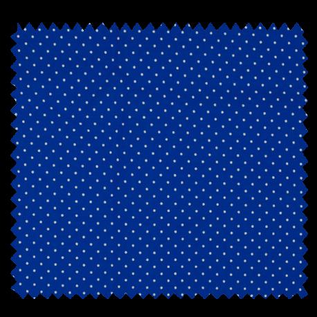 Tissu Imprimé Epingle Pois Royal