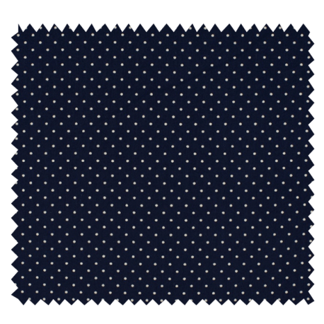 Tissu Imprimé Epingle Pois Marine