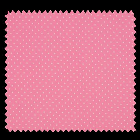 Tissu Imprimé Epingle Pois Rose
