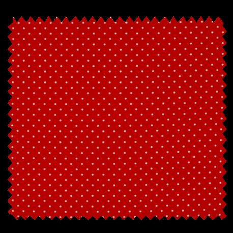 Tissu Imprimé Epingle Pois Rouge