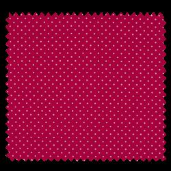 Tissu Imprimé Epingle Pois Fuchsia