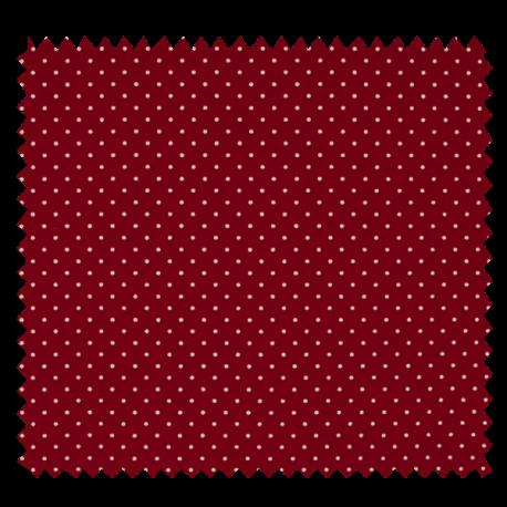 Tissu Imprimé Epingle Pois Bordeaux