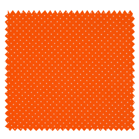 Tissu Imprimé Epingle Pois Orange
