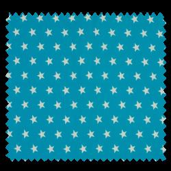 Tissu Imprimé Etoile Turquoise