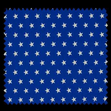 Tissu Imprimé Etoile Royal