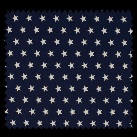 Tissu Imprimé Etoile Marine