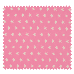 Tissu Imprimé Etoile Rose