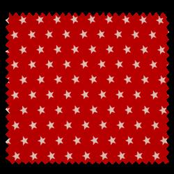Tissu Imprimé Etoile Rouge