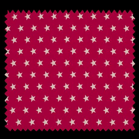 Tissu Imprimé Etoile Fuchsia