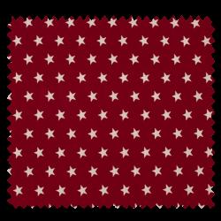Tissu Imprimé Etoile Bordeaux