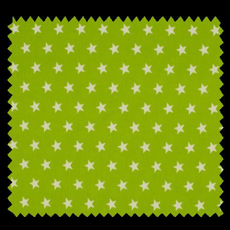 Tissu Imprimé Etoile Anis
