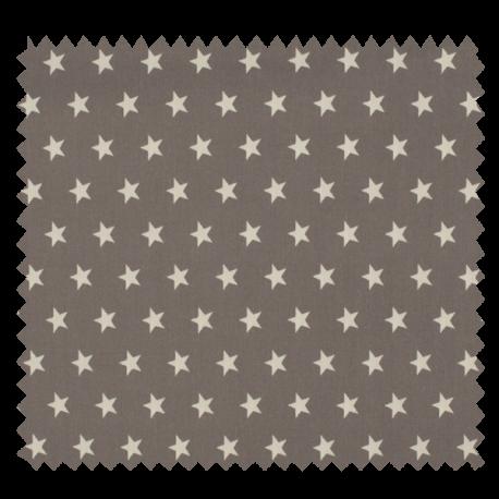 Tissu Imprimé Etoile Gris