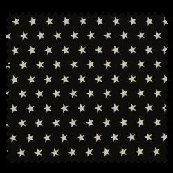 Tissu Imprimé Etoile Noir
