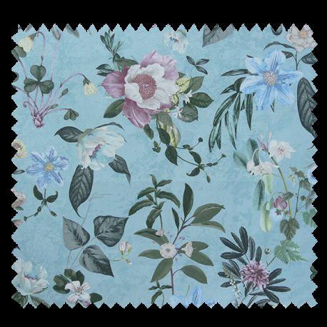 Tissu Belle de Jour Percale Bleu