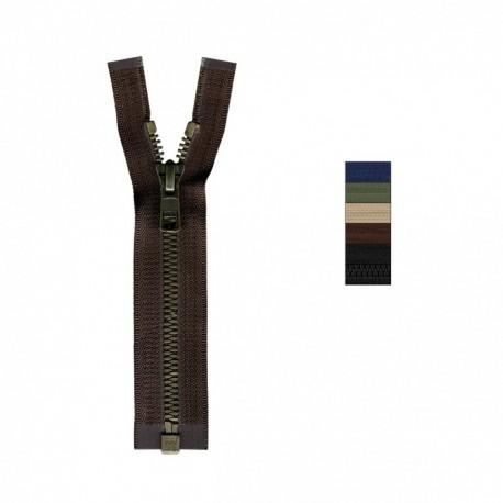 Fermeture Eclair Metalux injectée séparable non modifiable 55 à 80cm