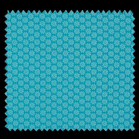 Tissu Imprimé Floralie Turquoise