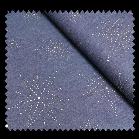Tissu Etoiles Cloutees