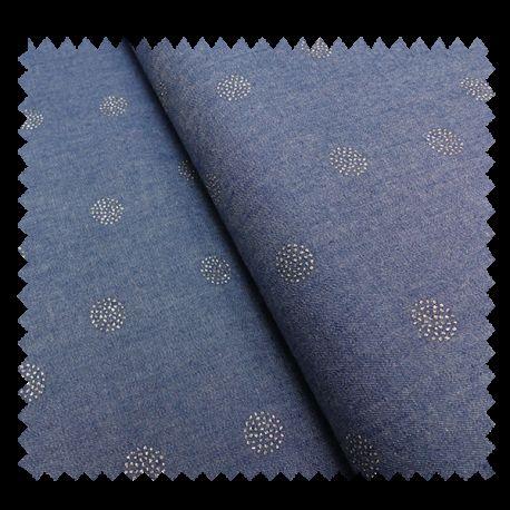 Tissu Pastilles Argent