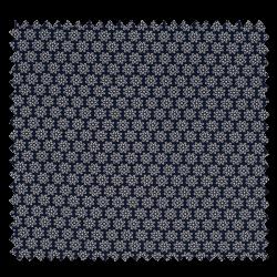 Tissu Imprimé Floralie Marine