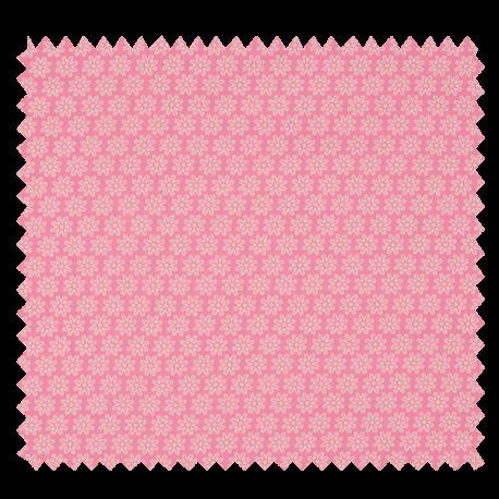 Tissu Imprimé Floralie Rose