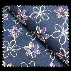 Tissu Jean's Pailletes