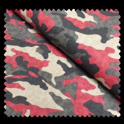 Tissu Army Kaki Rouge