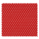 Tissu Imprimé Floralie Rouge