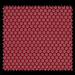 Tissu Imprimé Floralie Bordeaux