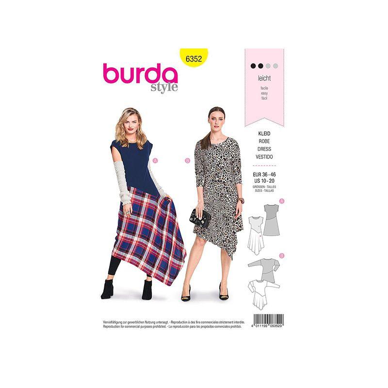 Patron Burda 6352 Robe Pour Dames 36/46
