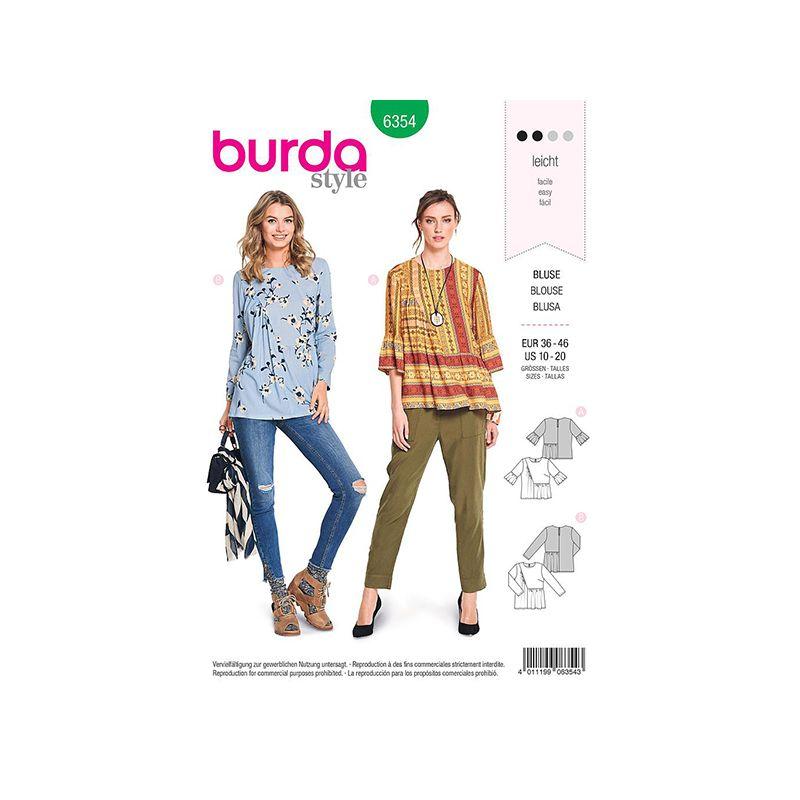Patron Burda 6354 Blouse Dame 36/46