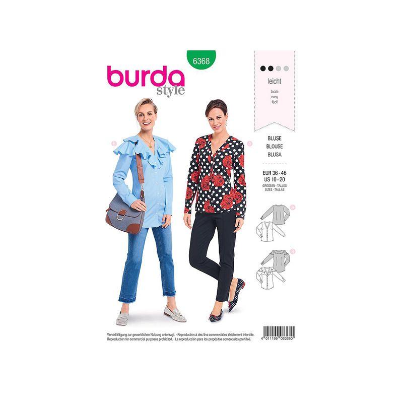 Patron Burda 6368 Blouse Pour Dames 36/46