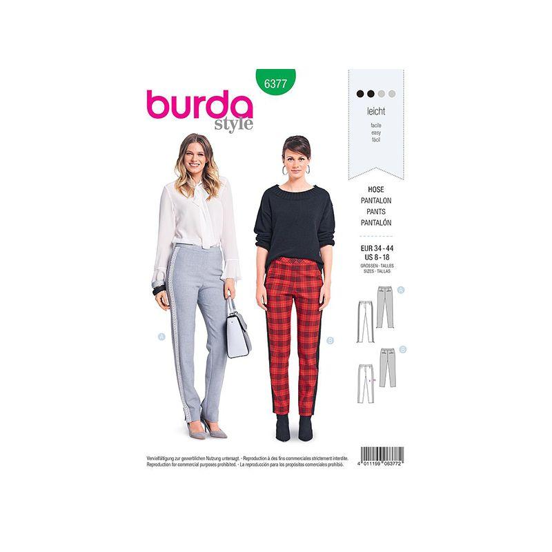 Patron Burda 6377 Pantalon Dame 34/44