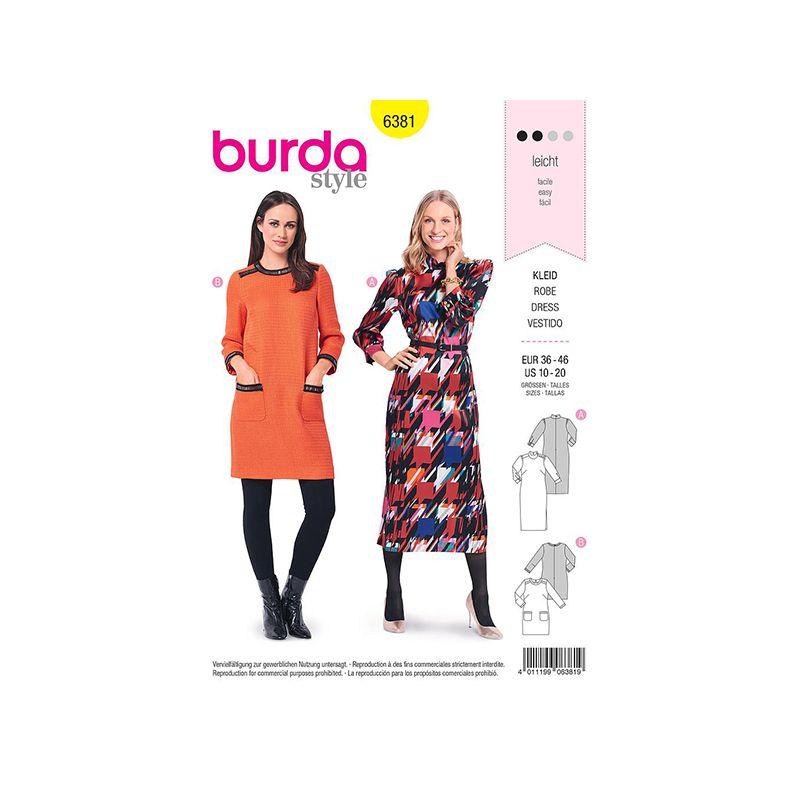 Patron Burda 6381 Robe Pour Dame 36/46