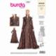 Patron Burda 6398 Robe Renaissance 34/44