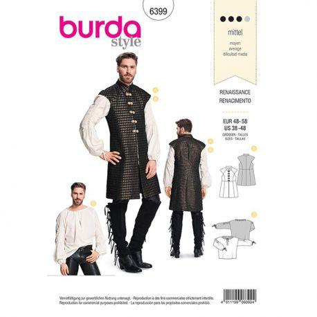 Patron Burda 6399 Ensemble Renaissance Pour Hommes 48/58